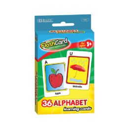 48 of Bazic Alphabet Preschool Flash Cards (36/pack)