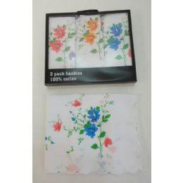 72 of 3pk Ladies Printed Handkerchief