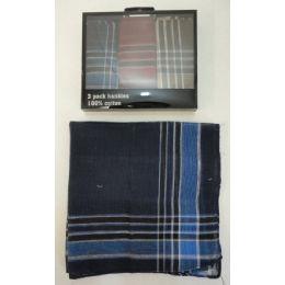 72 of 3pk Men's Plaid Handkerchief