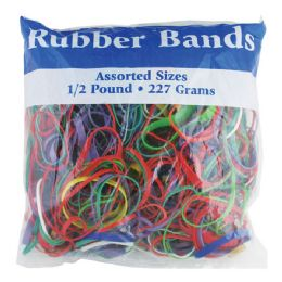 72 of Assorted Dimensions 227g/ 0.5 Lbs. Rubber Bands