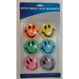 144 of 6pc Smile Face Magnets