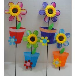 """36 of 11"""" Wind SpinneR-Sunflower & Flower Pot"""