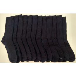 120 of Boys Navy Ribbed Dress Socks, Size 9-11