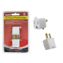 144 of 2 Piece 3-Prong To 2-Prong Outlet Adapter