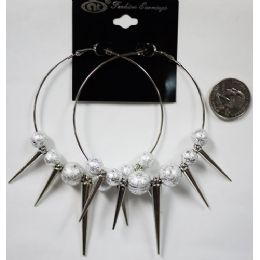 96 of Silver Colored Big Loop With Spike Earring