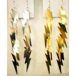 96 of Gold And Silver Colored Lighting Bolt Shaped Earring