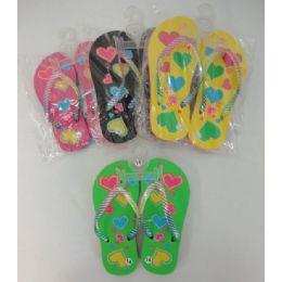 48 of Girl's Flip Flops [hearts]