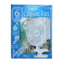 "36 of 6"" Clip -On Fan"