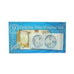 "6 of 9"" Twin Portable Window Fans"