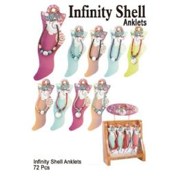 72 of Infinity Shell Anklets