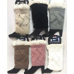 24 of Solid Color Knitted Boot Topper With Crochet Top