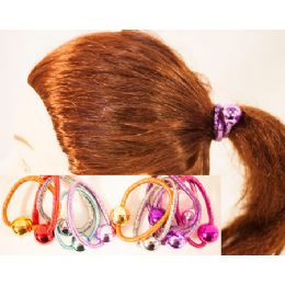 96 of Metalic Ball Pony Tail Holder Hair Ties