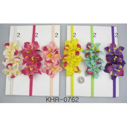 96 of Multicolor Flower Head Wraps