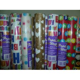 72 of Birthday Paper Wrap 25sq ft