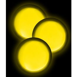 40 of Glow Badge Round - Yellow