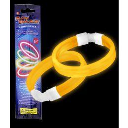 300 of Glow Retail Packaged Triple Wide Bracelet - Orange