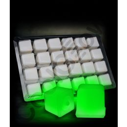 12 of Glowing Ice Cubes - Green