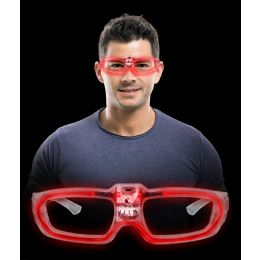 144 of LED Sound Activated Eye Glasses- Red