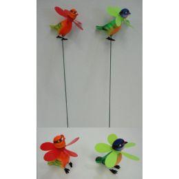60 of Yard Stake [birds With Pinwheel]