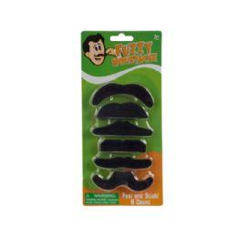 108 of SelF-Adhesive Fuzzy Mustache Set