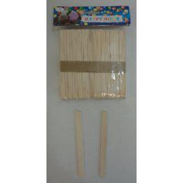 48 of 100pc Wooden Craft Sticks