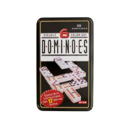 12 of Double 6 Color Dot Dominoes Game Set