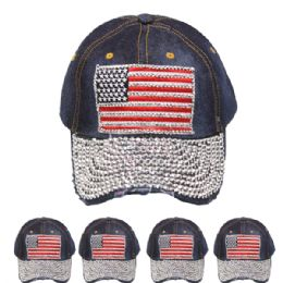 24 of American Flag One Color Cap