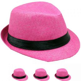 24 of Kid Fedora Hat In Pink