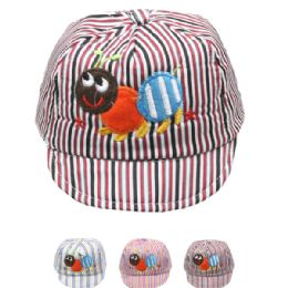 72 of Kid Summer Hat With Ant In Assorted Colors
