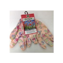 72 of Printed Pattern Garden Gloves With Latex Grip