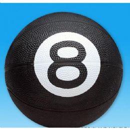 36 of 8-Ball Design Full Sized Rubber Basketball