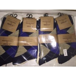 72 of Men's Single Pair Dress Socks (assorted Styles And Colors - Size 10-13)