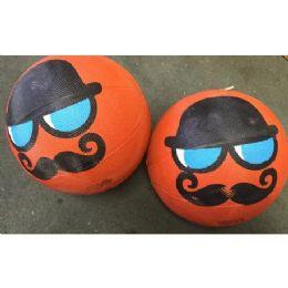 25 of Mustache Novelty Basketballs