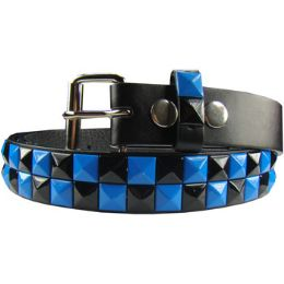 36 of Kids Studded Belts In Blue And Black