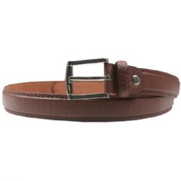 36 of Men Brown Fashion Belt Genuine Leather