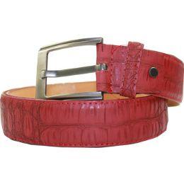 36 of Men Belt In Red 126