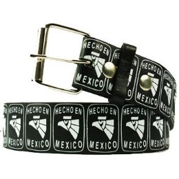 36 of Adult Unisex Hecho En Mexico Printed Belt