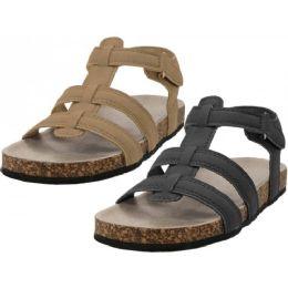 24 of Boy's Pu Man Make Leather Upper Slide Sandals
