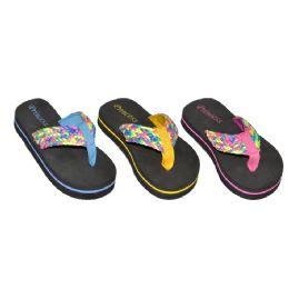 48 of Girls Multi Color Flip Flop