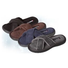 36 of Boys Open Toe Cross Slippers In Assorted Sizes And Colors Per Case