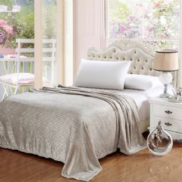 12 of 100% Polyester Blankets Grey Color