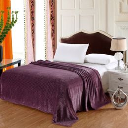 12 of 100% Polyester Blankets Purple Color