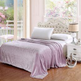 12 of 100% Polyester Blankets Lavender Color