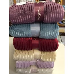 12 of The Collection 100% Polyester Blankets Assorted Color