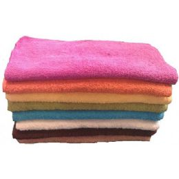 288 of 12x12 Heavy Fancy Wash Cloth 1.5lB- Asst Colors.