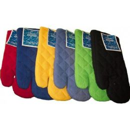 """144 of 13"""" Solid Heavy Waffle Weave Oven MitT-Assts"""
