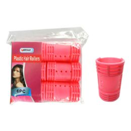 96 of 6 Piece Plastic Hair Roller