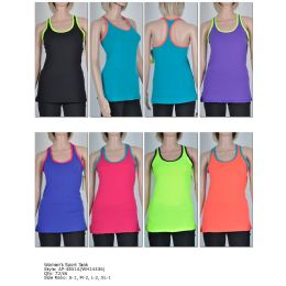 72 of Women's Fashion Sports Tank In Assorted Colors And Sizes