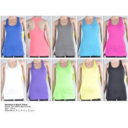 72 of Womens Fashion Sports Tank Assorted Colors And Sizes