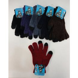 24 of Ladies Chenille Touch Screen Gloves